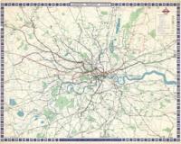 Kaart van London's Transport Systems