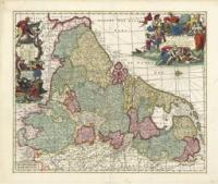 De Zeventien Provinciën door Carel Allard, ca. 1696