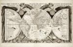 Wereldkaart door Philip Eckebrecht voor Johann Keppler, ca. 1660