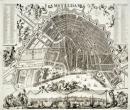 Kaart van Amsterdam door Johannes de Ram, ca. 1690