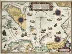 Kaart van het Noordpoolgebied door Willem Barentsz