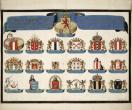 Stadswapens van de stemhebbende steden in Holland door David Reerigh, 1647