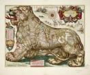 Leo Belgicus door Hendrick Doncker, eind 17de eeuw